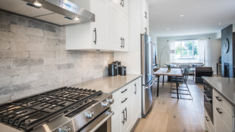 view of the kitchen in brownstones